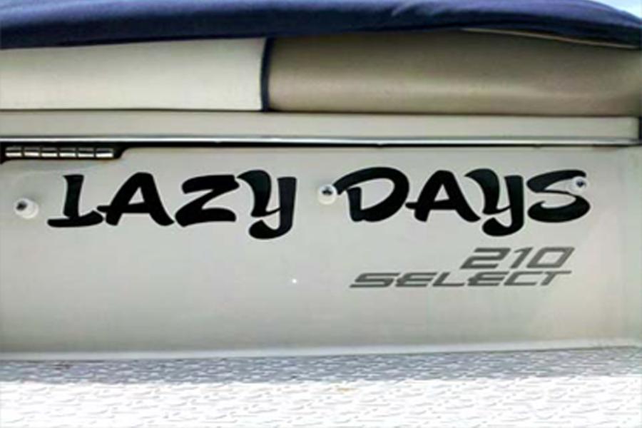 Artistic merit boat lettering for Boat lettering styles